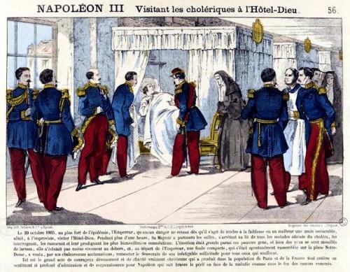 Napoléon III Visitant les cholériques à l'Hôtel-Dieu